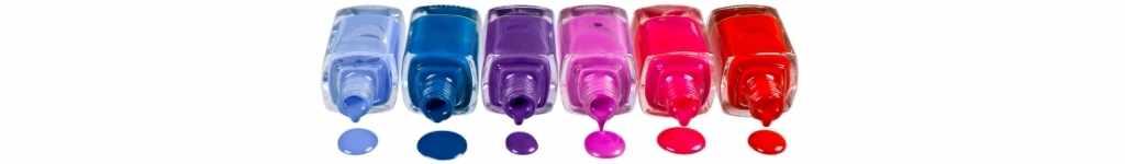 paleta de cores de esmaltes