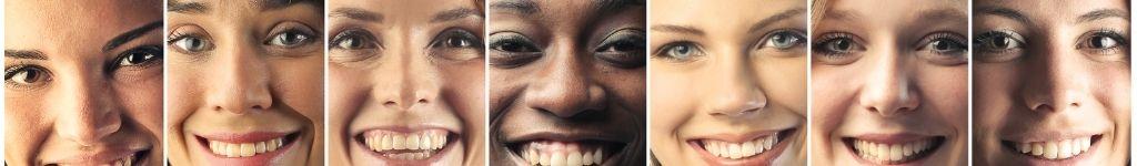 Sorrisos de diferentes pessoas